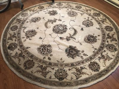 Round Wool Rug for sale!