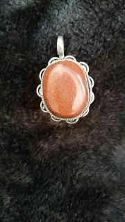 .925 Silver Brown Stoned Pentant.