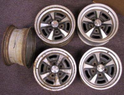 Sell Set 5 Vintage Ralley II Rims 14x7 Pontiac Lemans GTO Mopar motorcycle in Glendale, Arizona, US, for US $249.99
