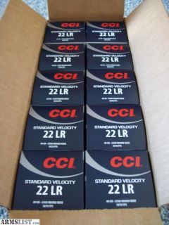 For Sale: 5000 Rds CCI Standard Velocity 22LR case