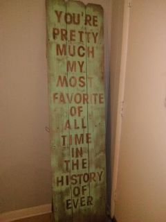 Outdoor porch large sign decor