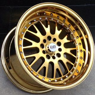 Buy Gold Chrome 18x9.5 et 15 Wheels Rims ESM 007 5x114.3 Honda Civic motorcycle in Northridge, California, United States, for US $994.95