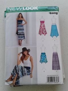 Simplicity New Look Easy Sew Pattern S0806 Sz Xs,S,M,L & XL Short & Long Skirts & Pants-NWT