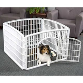 Small dog indoor-outdoor plastic pet pen 3'x6'