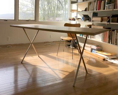 Nelson X-Leg Table Herman Miller Mid-Century Mod