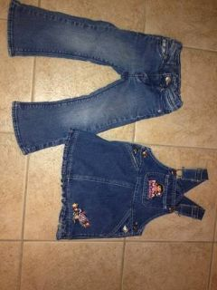 2T girls jeans and Overalls