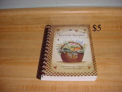 Favorite Recipes Fundraising For Children Living With Cancer Fund, Winona, MN 204-Page Church-Style Cookbook. Contents: Appetizers &...