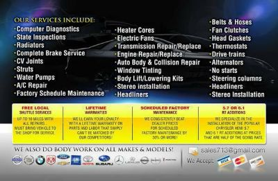 A. Auto repair is just a phone call away contact us at 713-771-1617  -