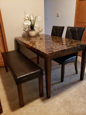 Beautiful kitchen table with bench