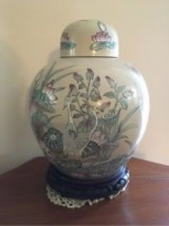 vase with lid and base