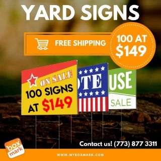 Custom Outdoor Yard Signs & Signage  | Boxmark