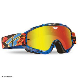 Purchase 2014 Fly Racing Zone Pro Goggles Blue/Black with Fire Chrome Lens *Free Shipping motorcycle in Coloma, Michigan, US, for US $27.95