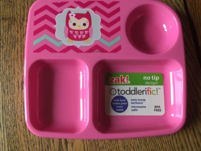 New 3 section toddler plate/tray