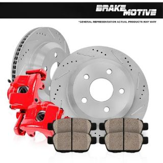 Find Rear Red Brake Calipers and Rotors & Pads DODGE DURAGO RAM 1500 ASPEN 4WD 2WD motorcycle in Chicago, Illinois, United States, for US $270.47