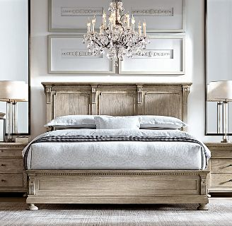Restoration Hardware St. James Queen Panel Bed