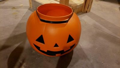 Huge pumpkin to put candy out