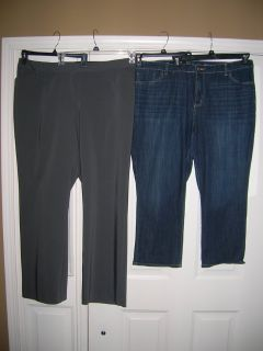 Womens - sz 20WL gray dress slacks and sz 20W Capri Jeans