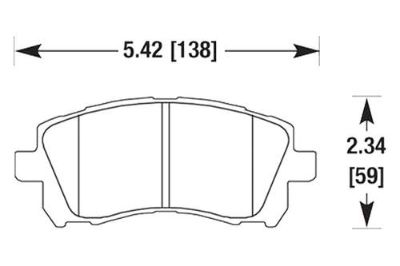 Purchase HAWK HB352Z.665 - 98-02 Subaru Forester Front Brake Pads Ceramic motorcycle in Chino, California, US, for US $101.15