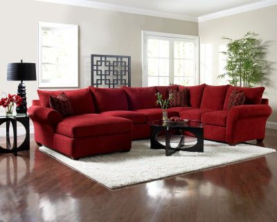 Klaussner Fletcher sectional with matching ottoman