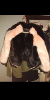 Pick up now $15 women's size M fashion Nova faux fur pink and black jacket brand new with tags