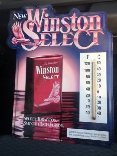 Winston select cigarette sign with thermometer