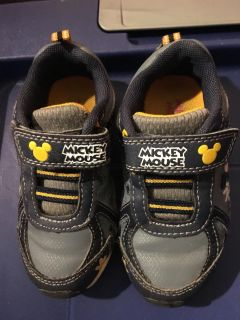 Toddler size 7 Mickey Sneakers