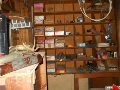 gunsmith books, cabinets, gun parts, etc (houma)