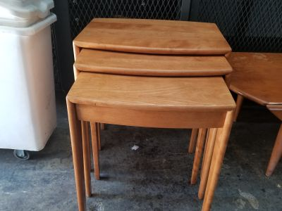 Rare Heywood Wakefield Nesting Tables