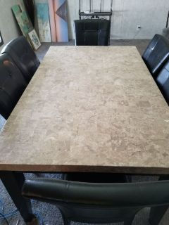 7 piece marble dining room set( Relocating sale)
