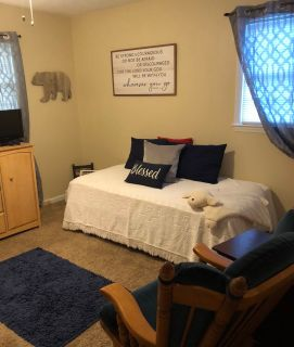 Twin bed with mattress and box springs