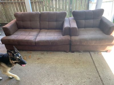 Couch and chair together 60