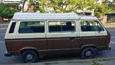 1982 VW Camper Bus Turbo Diesel Conversion 27 mpg