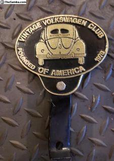 Vintage Volkswagen Club of America Bumper - Pendin
