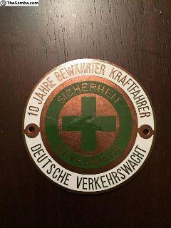 10 Year Safe Driving Badge Emblem German