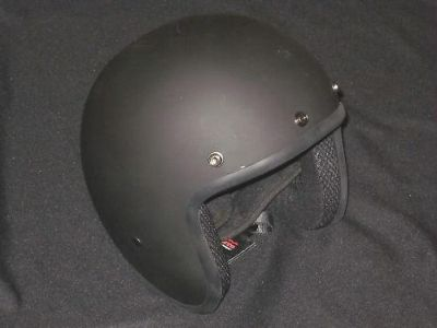 Purchase 3/4 flat dull black helmet motorcycle Medium DOT Cruiser Daytona 60s style motorcycle in Canyon Country, California, US, for US $50.00