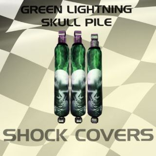 Purchase Yamaha grizzly Green Lightning Skull Pile Shock Cover #lwo12919 klw4929 motorcycle in Milwaukee, Wisconsin, United States, for US $29.99