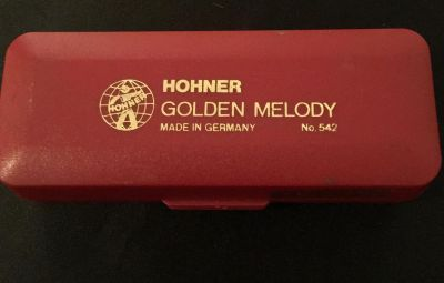 Vintage Hohner Golden Melody Harmonica # 542 C Made In Germany Pick Up Is In Columbia