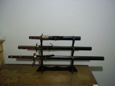 3 Piece Sword set with Stand