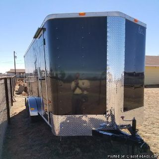 16 FT BLACK ENCLOSED TRAILER