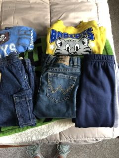 Lot of boys clothes see description for sizes
