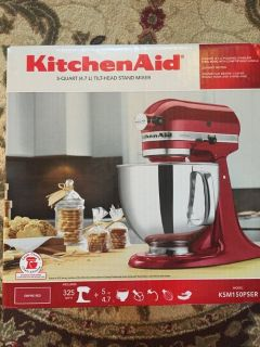 RED, KitchenAid Artisan Series Stand Mixer 5-Quart