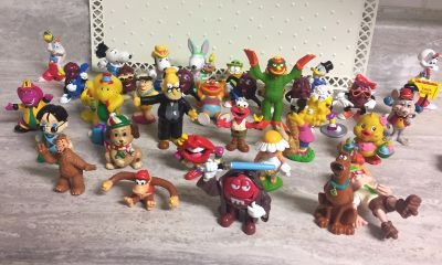 Big Group of Vintage Toy Character Figures. CP.