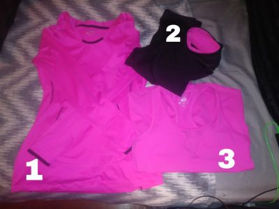 3 piece exercise out fit black & pink