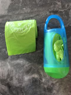 Garbage bag holder for dirty diapers