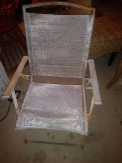 Wood metal Material folding lawn chair In Fairfield on 6/16 if you want me to bring this