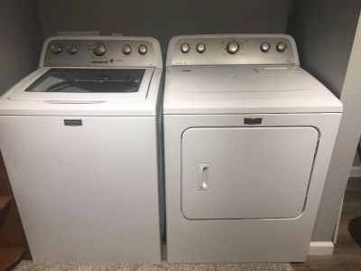 HE washer and Electric Dryer
