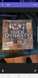 BRAND NEW NEVER OPENED DUCK DYNASTY FAMILY BOARD GAME