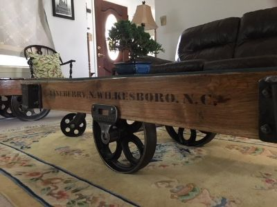 Vintage Lineberry Factory Cart
