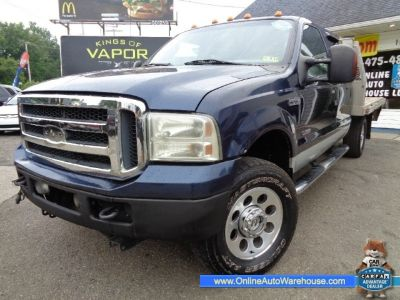 2006 Ford Super Duty F-350 SRW 4X4 CREW CAB DIESEL FLAT BED ONE OWNER