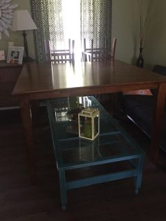 Espresso counter height dining room table with 8 chairs